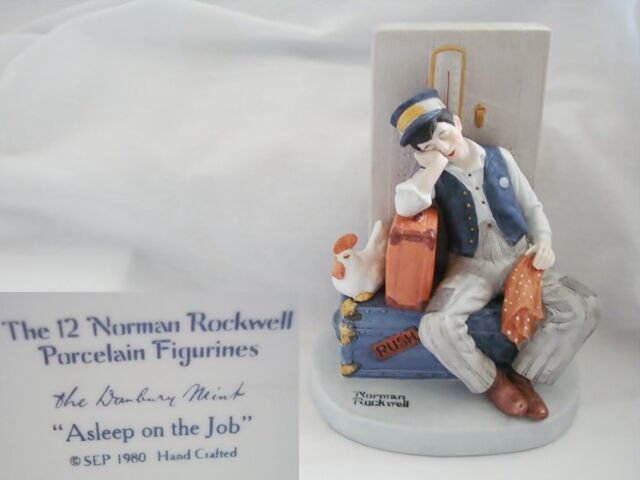 Norman Rockwell Asleep on the Job Figurine