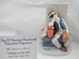 Norman Rockwell Asleep on the Job Figurine - $41.13