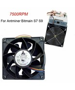 Cooling Fan 7500RPM Replacement 4 Pin Connector Antminer Bitmain S7 S9 6... - $21.15