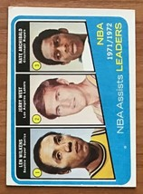 1972-73 TOPPS #176 NBA ASSIST LEADERS CARD (WILKENS/WEST/ARCHIBALD) - $9.85