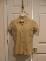 NEW IN PKG CASUAL CORNER ANNEX khaki 100% COTTON BUTTON FRONT SHIRT SIZE... - $11.13