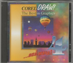 Corel DRAW! 4  The Best in Graphics ~ 2 Disc set ~ 1993 - $29.21