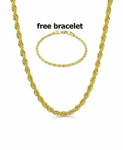 BLING CULTURE Life Time Warranty,1mm -5mm Gold Rope Chain,made in USA,30... - $60.55
