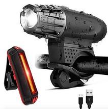 Elumaxon Rechargeable Bike Light Set, Superbright Bicycle Light, LED Fro... - $18.41