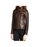 O brown stylish leather jacket for women 381f thumbtall