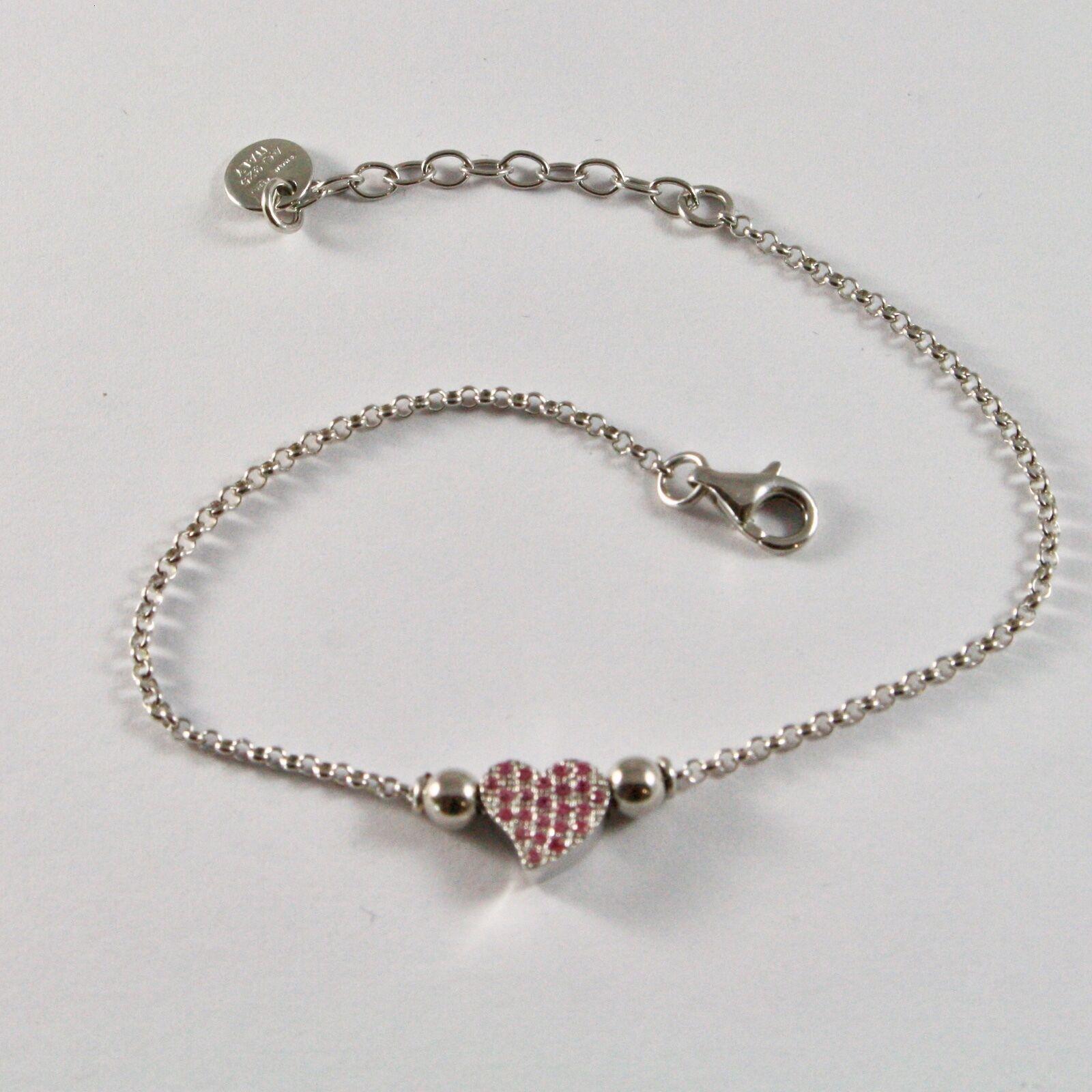 Silver Bracelet 925 Jack&co with Heart Stylized and Zircon Cubic JCB0858