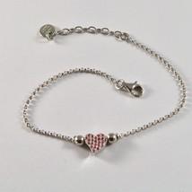 Silver Bracelet 925 Jack&co with Heart Stylized and Zircon Cubic JCB0858 image 1