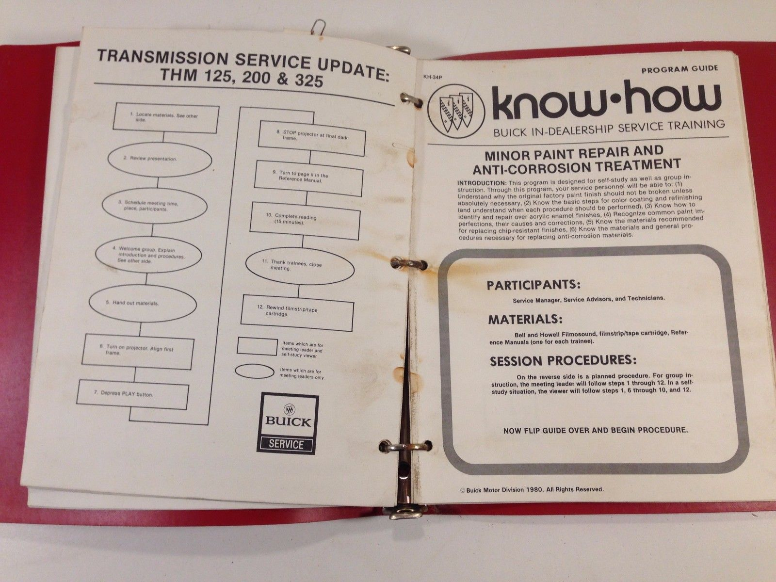 1978 1980 Buick Opel Know How In Dealership Training Packet