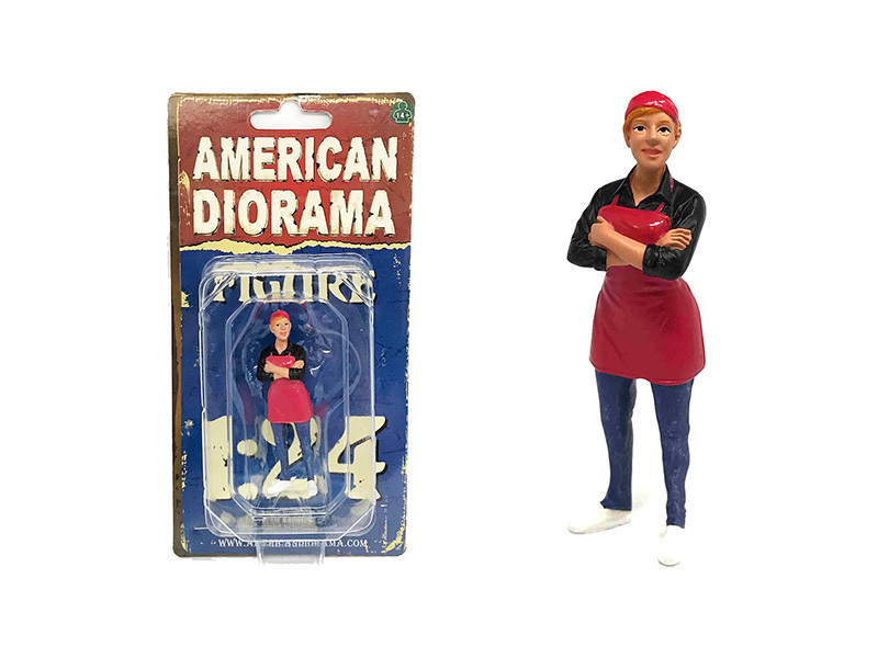Food Truck Chef Gloria Figure for 1/24 Scale Models by American Diorama