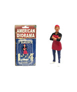 Food Truck Chef Gloria Figure for 1/24 Scale Models by American Diorama - $15.82