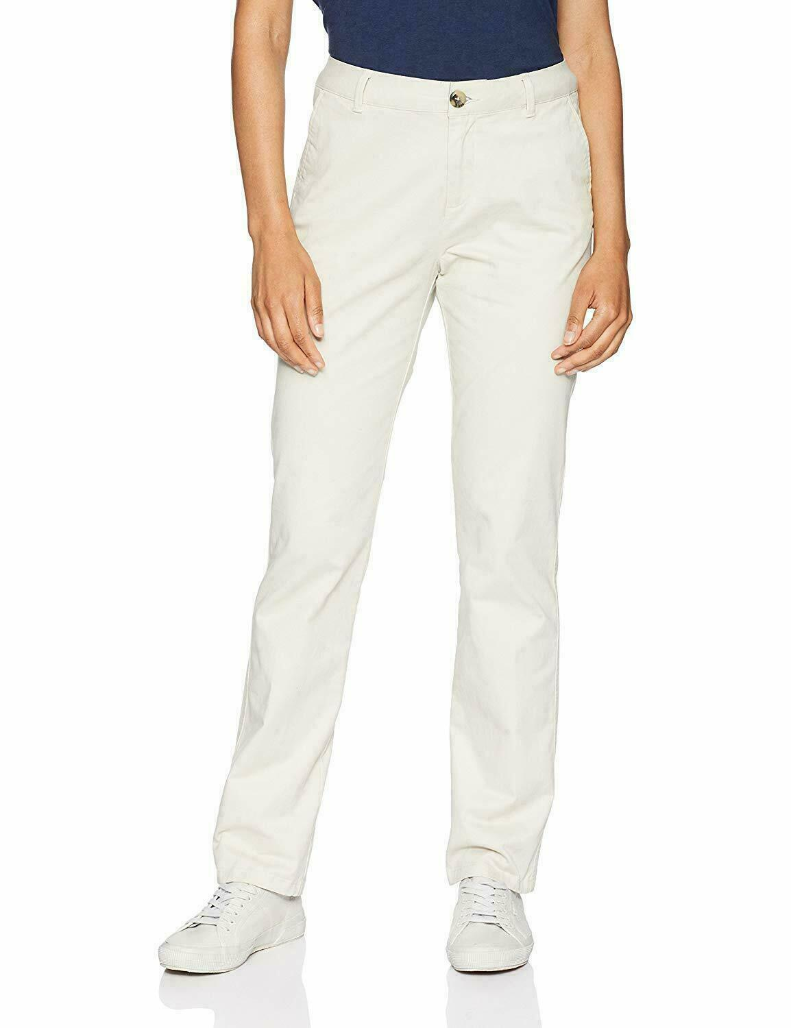Primary image for Amazon Essentials Women's Straight-Fit Stretch Twill Chino Pant, Stone 8 Regular