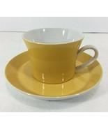 Mikasa Ben Seibel Duplex Yellow 2557 Cup & Saucer Set Mid-Century Modern... - $31.85