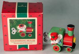 Hallmark Keepsake Ornament 1985 Engineering Mouse w Box Train Engine - $5.00