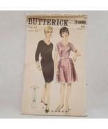 Dress Two Skirts Pattern Size 12 Butterick 3409 VTG  Un-Cut V Neck Women... - $9.99