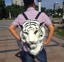 3D Tiger Head Backpack Cartoon Animal Lion Bags White Women Men Casual Daypacks  - $28.50+