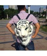 3D Tiger Head Backpack Cartoon Animal Lion Bags White Women Men Casual D... - £21.88 GBP+