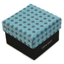 Berlioni Men's Silk Neck Tie Accessory Box Set With Cufflinks & Pocket Square image 9