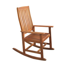"43"" Acacia Wood Outdoor Patio Rocking Chair - $172.00"