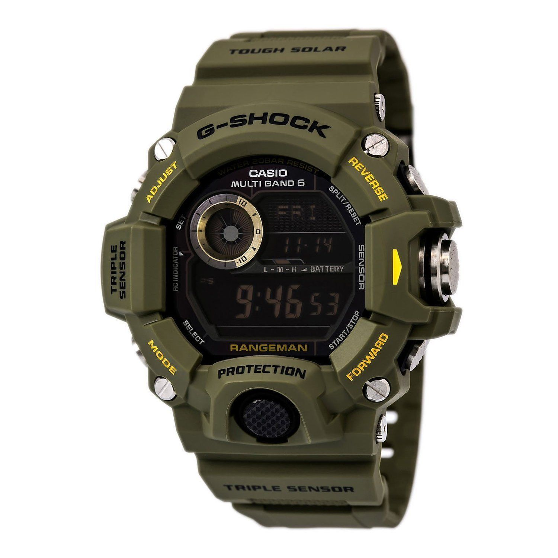 Casio Men's GW9400-3CR G-Shock Rangeman Master Of G Series Stylish Watch Green for sale  USA