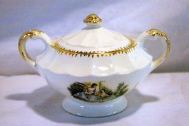 Sebring Pottery Serenade #1K-G.F.E. Footed Covered Sugar Bowl - $11.77