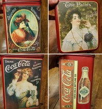 Vtg 1985 Coca-Cola Rectangle Victorian Lady Tin Container The Palms Coke  - $14.54