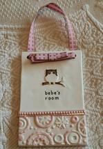 Grasslands Road Nursery Door Sign Baby Pink Bebe's Room Hang Ceramic Pla... - $12.85