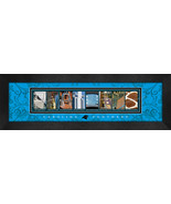 Carolina Panthers Officially Licensed Framed Letter Art - $39.95