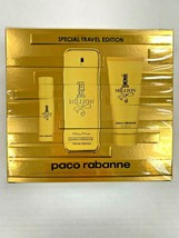 Paco Rabanne 1 Million 3 Pcs Set Special Travel Edition BRAND NEW BOX - $79.99