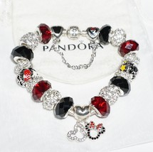 Sterling Silver Mickey Minnie Mouse Disneyland - Authentic Jared Pandora bracele - $139.00