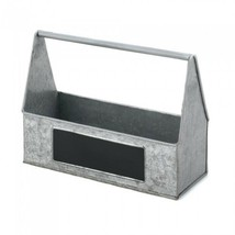 Utensil Picnic Caddy Galvanized Tin Picnic Condiment Caddy For Organizer - $35.62