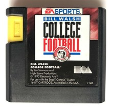 ☆ Bill Walsh College Football (Sega Genesis 1993) Game Cart ONLY Tested ... - $4.00