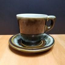Vintage Pfaltzgraff Copper Green Drip Cup & Saucer Set (1)  - $4.90