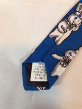 Pillsbury Dough Boy Repeat Ralph Marlin Blue Classic Men's Neck Tie 1996 image 5