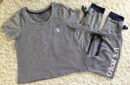1x US Polo Navy White 100% Cotton Knit Lounge Pajama Sleep Pants Top Set... - $24.99