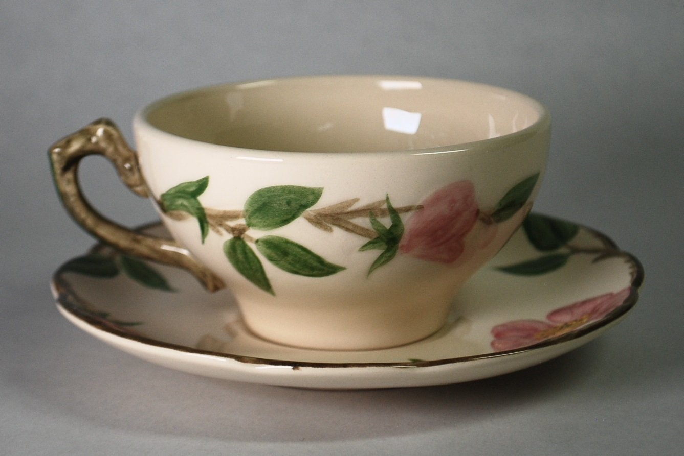 Franciscan Desert Rose Cup & Saucer Made in USA Pottery