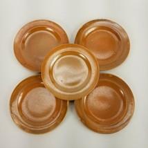 "Vintage 1930s Homer Laughlin Wells Art Glaze Rust Dessert Plates 6"" Set of 5 - $46.74"