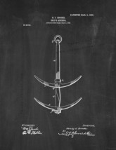 Ship's Anchor Patent Print - Chalkboard - $7.95+