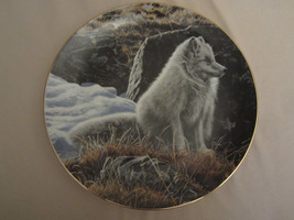 ARCTIC FOX Collector Plate NORTHERN MORNING Ron Parker NATURE'S QUIET MO... - $47.41