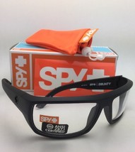 New SPY OPTIC Sunglasses BOUNTY Black Frames with ANSI Z87.1 Clear Safety Lenses