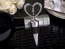 1 Heart key wine bottle stopper bridal shower favors wedding favor - $2.23