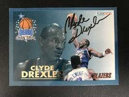 Clyde Drexler Signed Autographed 1992 Fleer Basketball Card - Portland T... - $14.99
