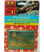 Classic Warbirds and Military Jets Trading Cards Set 1 Factory Set 1990'... - $9.74