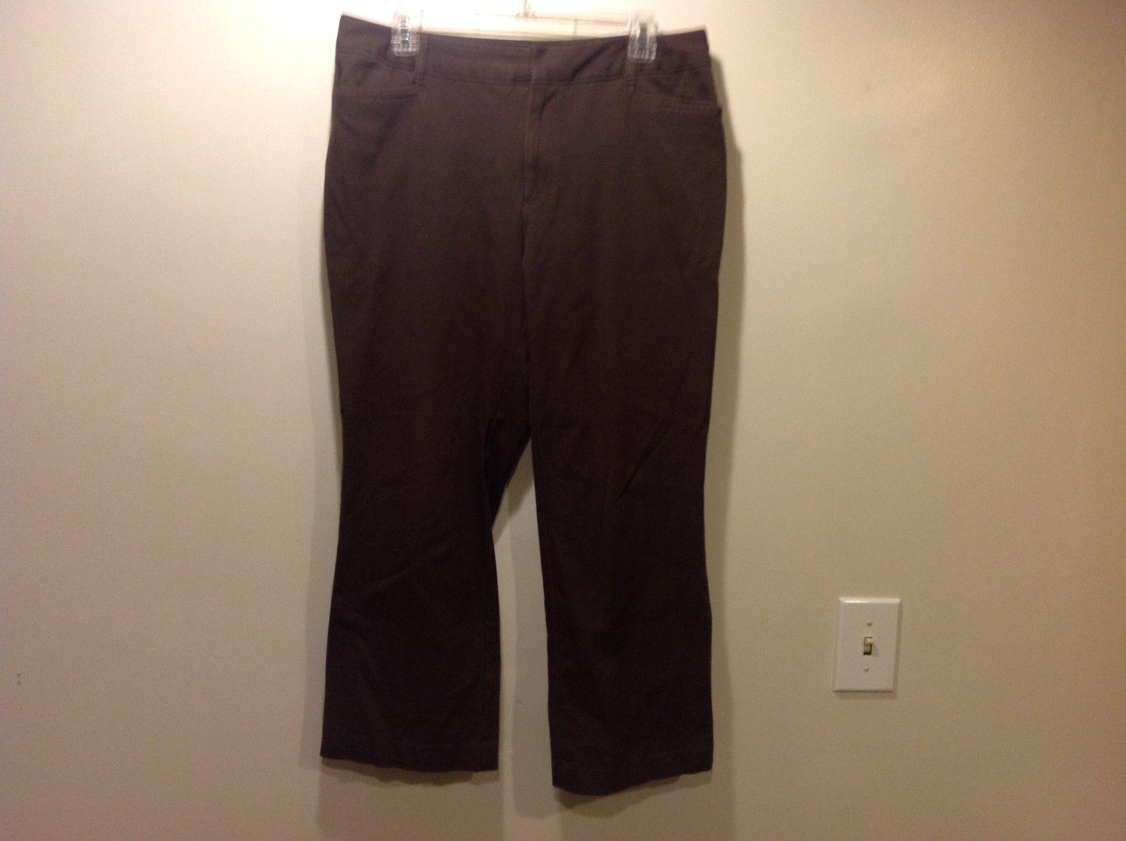 St John's Bay Stretch Ladies Brown Pants Sz 12