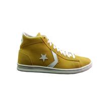 Converse - Sneaker alto in pelle scamosciata giallo - $109.00