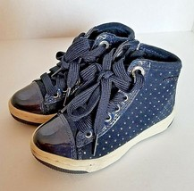 GEOX Respira Hightop Ankle Boot Toddler Size 8 EUR 24 UK 7 Blue Suede  S... - £15.49 GBP