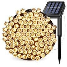Solar Powered String Lights 39ft 100LEDs 12M Waterproof Outdoor (Warm Wh... - $21.64