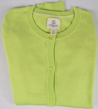 Lands' End Kids 100% Cotton Long Sleeve Lime Green Sweater Size M (10-12) - $9.89