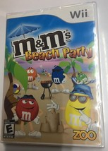 M&M's Beach Party (Nintendo Wii, 2009) Rated E ZOO Games NIP Kid's Action - $7.92