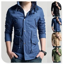 Quality US Size XS-2XL New Coats Men Outwear Mens Special Hoodie Jacket ... - $40.08