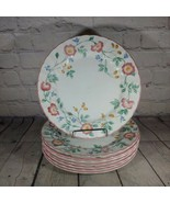 """Set Of 8 Churchill Briar Rose Dinner Plates Floral China Staffordshire 10"""" - $45.53"""
